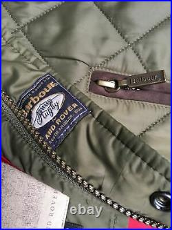 VGC Barbour Land Rover Rugby Mens XXL 56in Quilted Sandy Countryside Jacket