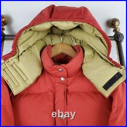 VTG 80s THE NORTH FACE Large Womens Down Sierra Jacket Made in USA Red
