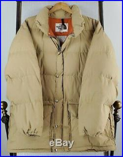 VTG 80s THE NORTH FACE Size XL USA Made Mens Khaki Down Filled Puffy Coat Parka