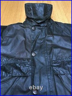 Vintage 2 Crest Barbour Bedale C32 Mens XS 38in Waxed Country Hunting Jacket