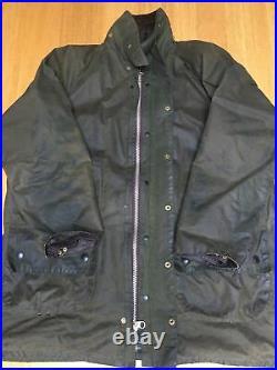 Vintage 2 Crest Barbour Gamefair C42 Mens M-L 52in Waxed Hunting Jacket VGC