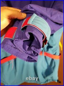 Vintage 80s Men's M The North Face Vertical Gore-tex Color Block Ski Jacket