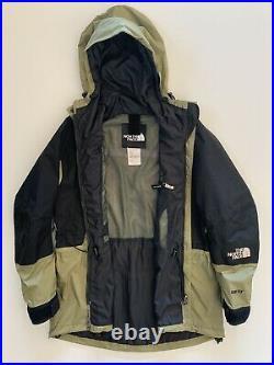 Vintage The North Face Gore-Tex Mountain Light Ski Jacket 90s Olive Green Medium