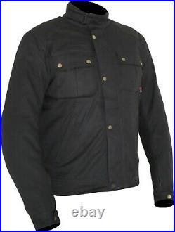Weise Ashland Jacket Men's Black Wax Cotton Motorcycle Jacket NEW