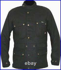 Weise Glenmore Jacket Men's Black Wax Cotton Motorcycle Jacket NEW